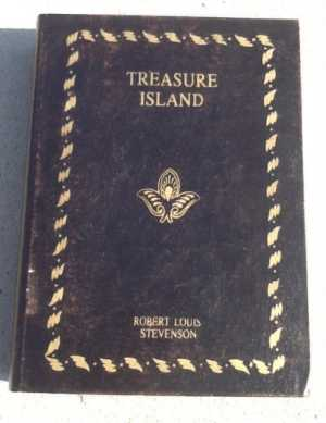 Treasue Island  Faux Hollow Book Cover